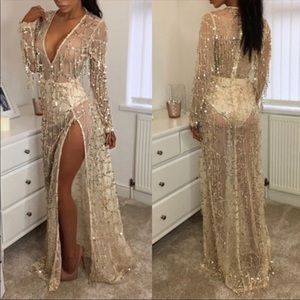• FIRM PRICE • Long Gorgeous Sequins Dress
